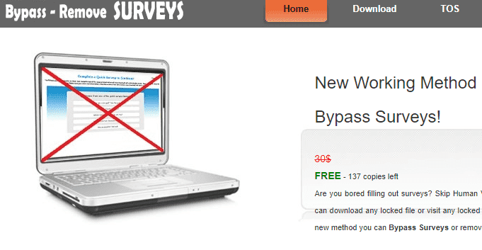 survey bypass website
