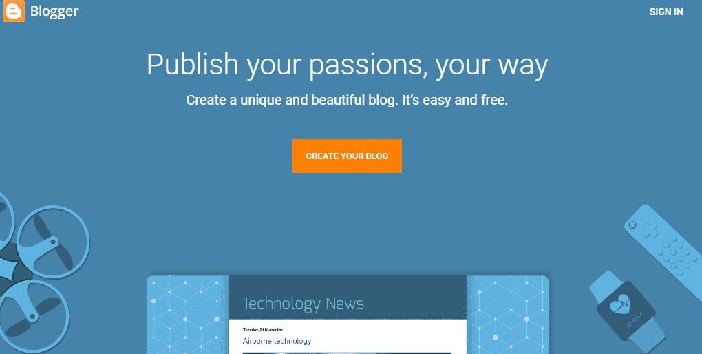 Blogger: Blogging Site like Tumblr